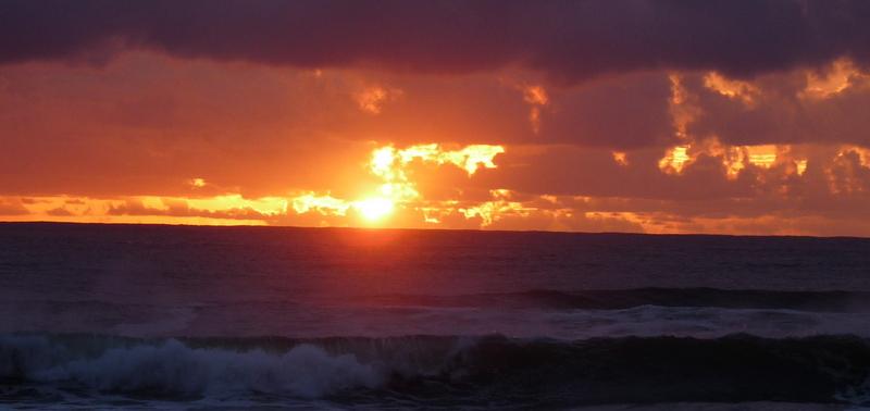 Fale na morzu, fale na niebie.